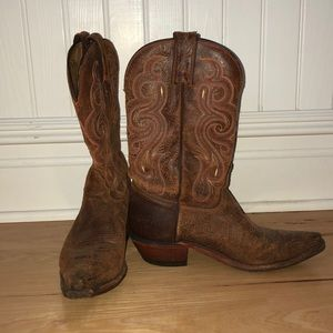 Worn-Leather Cowboy Boots